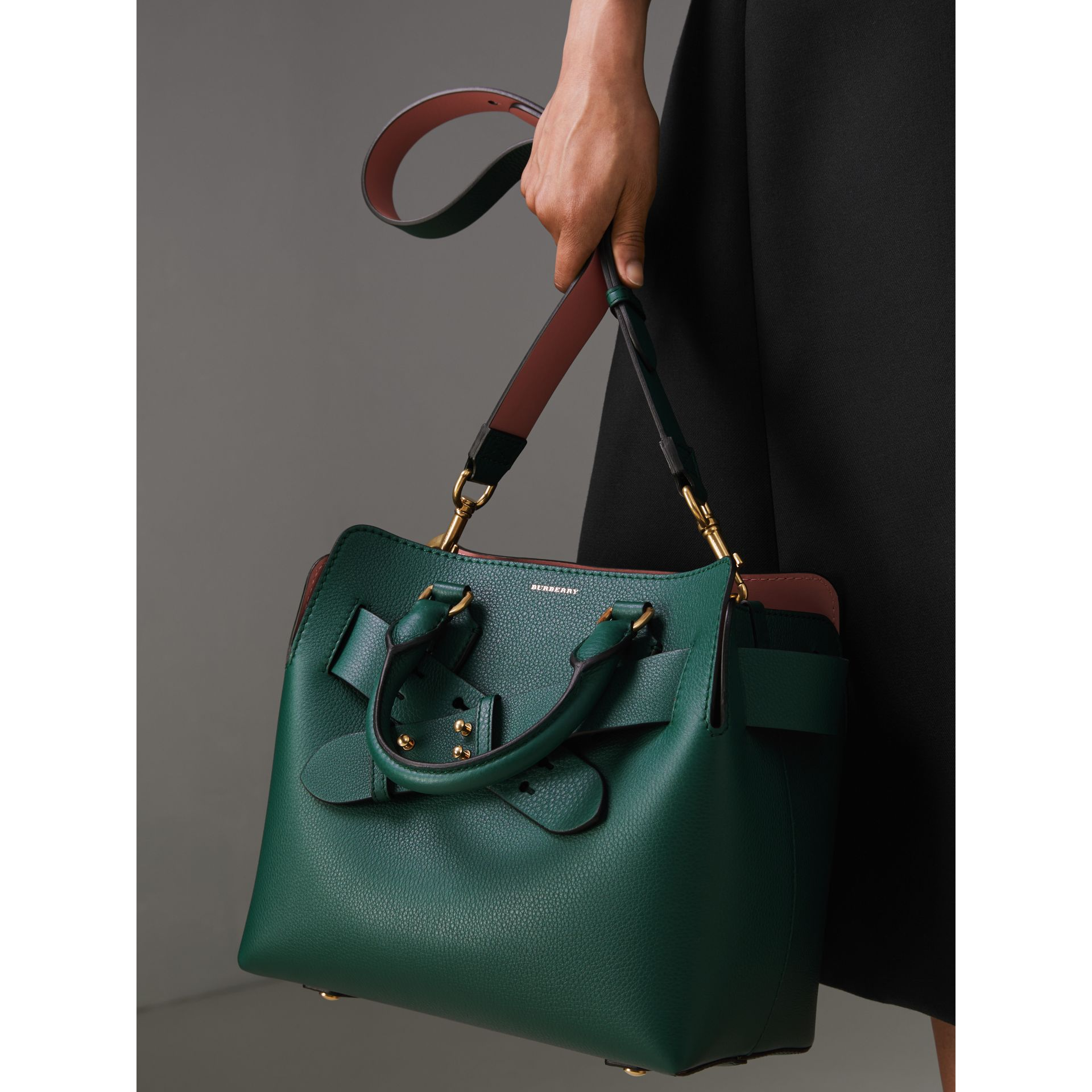 The Small Leather Belt Bag in Dark Cyan - Women | Burberry Australia - gallery image 6
