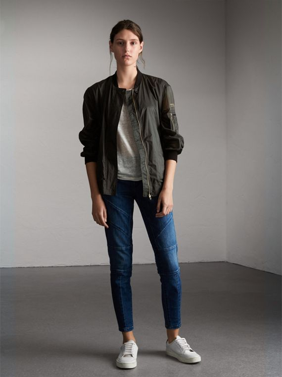 Lightweight Bomber Jacket in Vintage Green - Women | Burberry