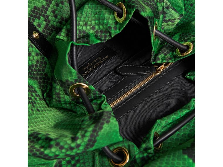 The Large Rucksack in Python Print Nylon and Leather in Green - Women | Burberry - cell image 4