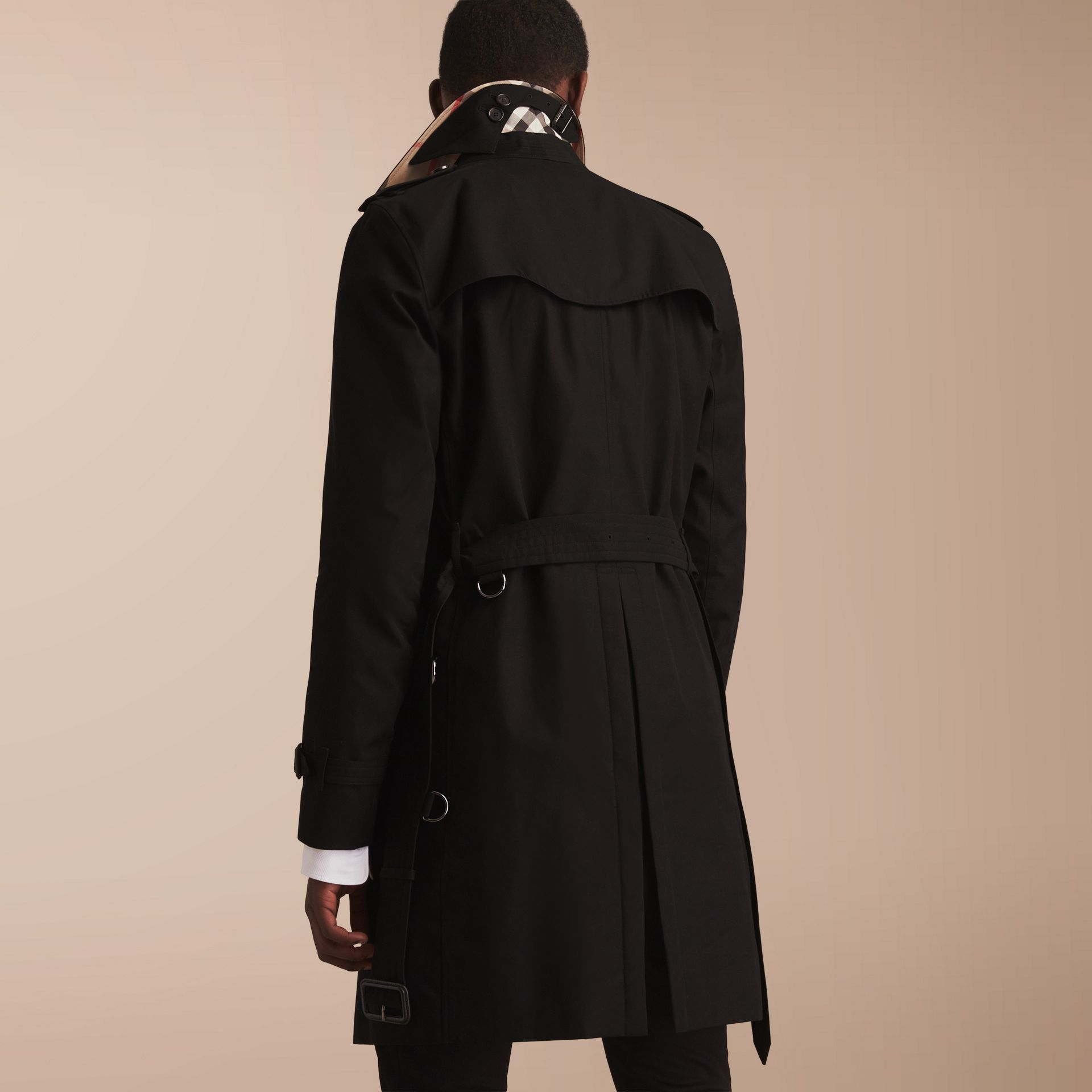 The Kensington – Long Heritage Trench Coat in Black - gallery image 3