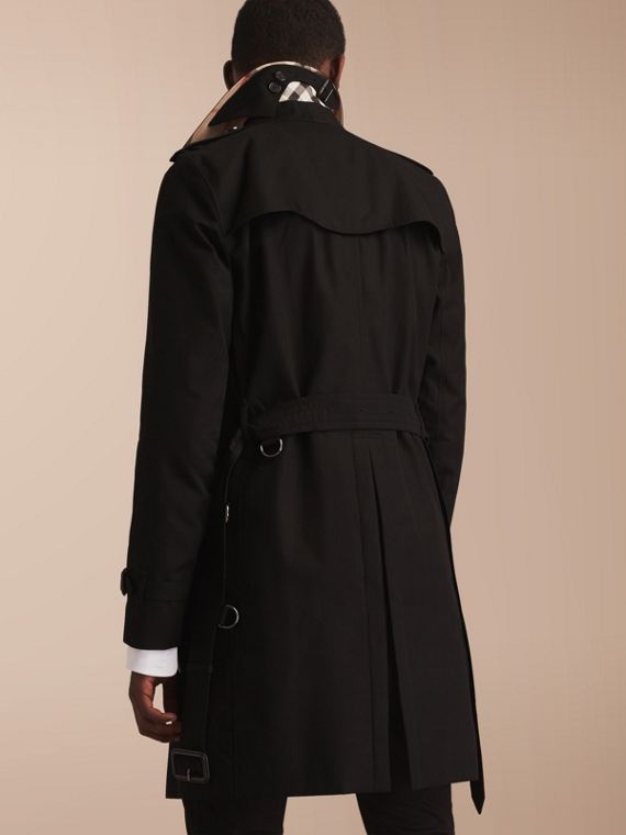 The Kensington – Long Heritage Trench Coat Black - cell image 2