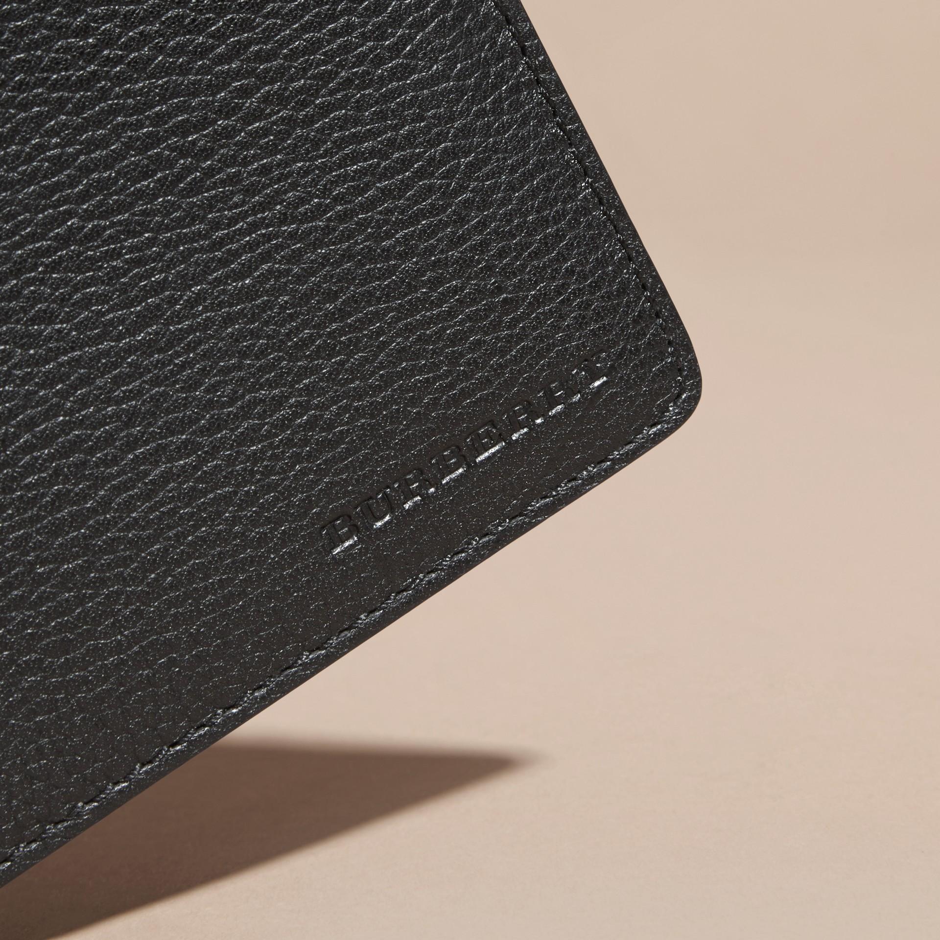 Черный Складной бумажник из кожи Черный - изображение 2