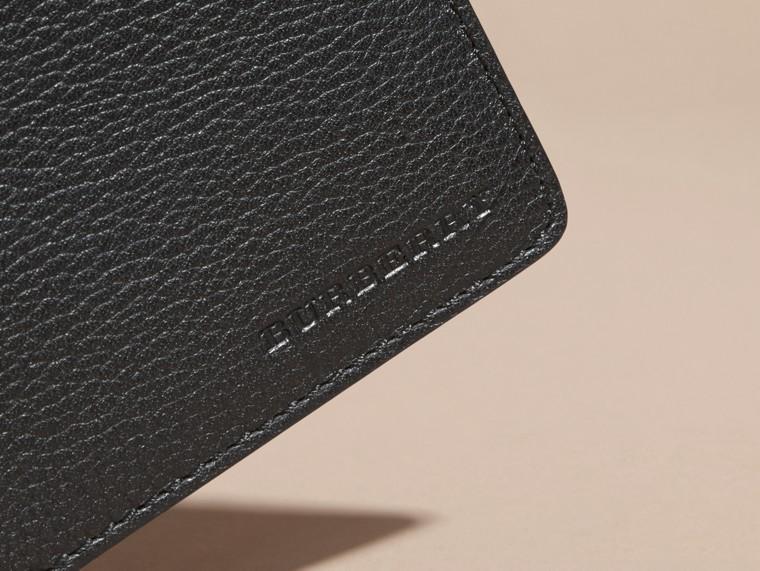 Черный Складной бумажник из кожи Черный - cell image 1