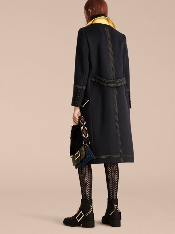 Ink Tailored Wool Coat With Contrast Details - cell image 2