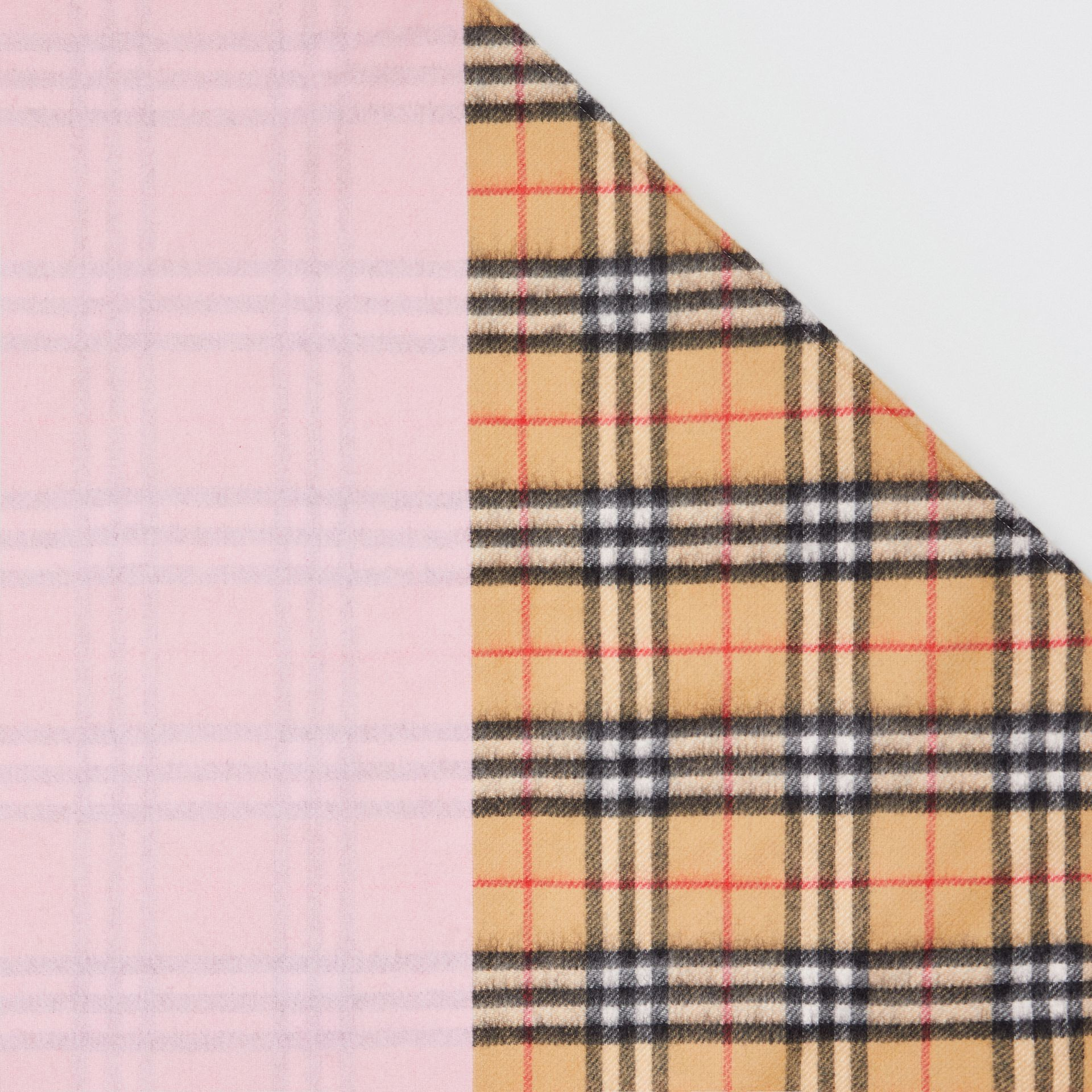 The Burberry Bandana in Vintage Check Cashmere in Pale Rose | Burberry Canada - gallery image 1