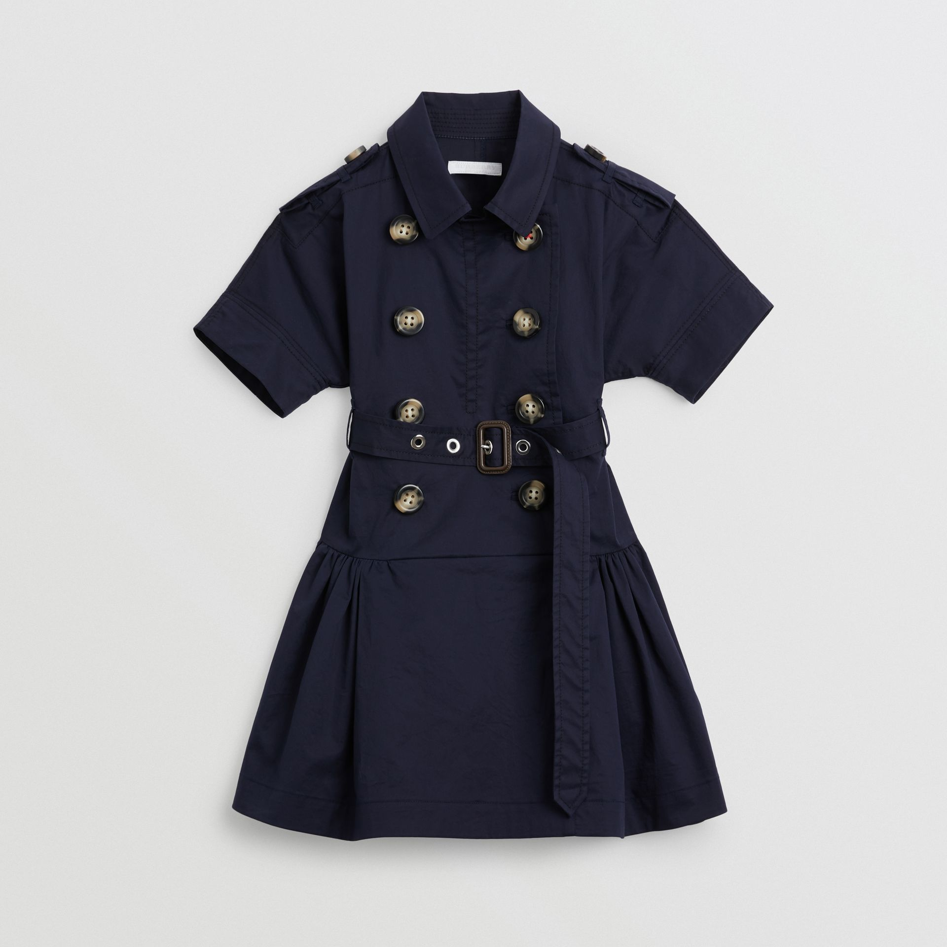 Stretch Cotton Trench Dress in Midnight | Burberry Australia - gallery image 0