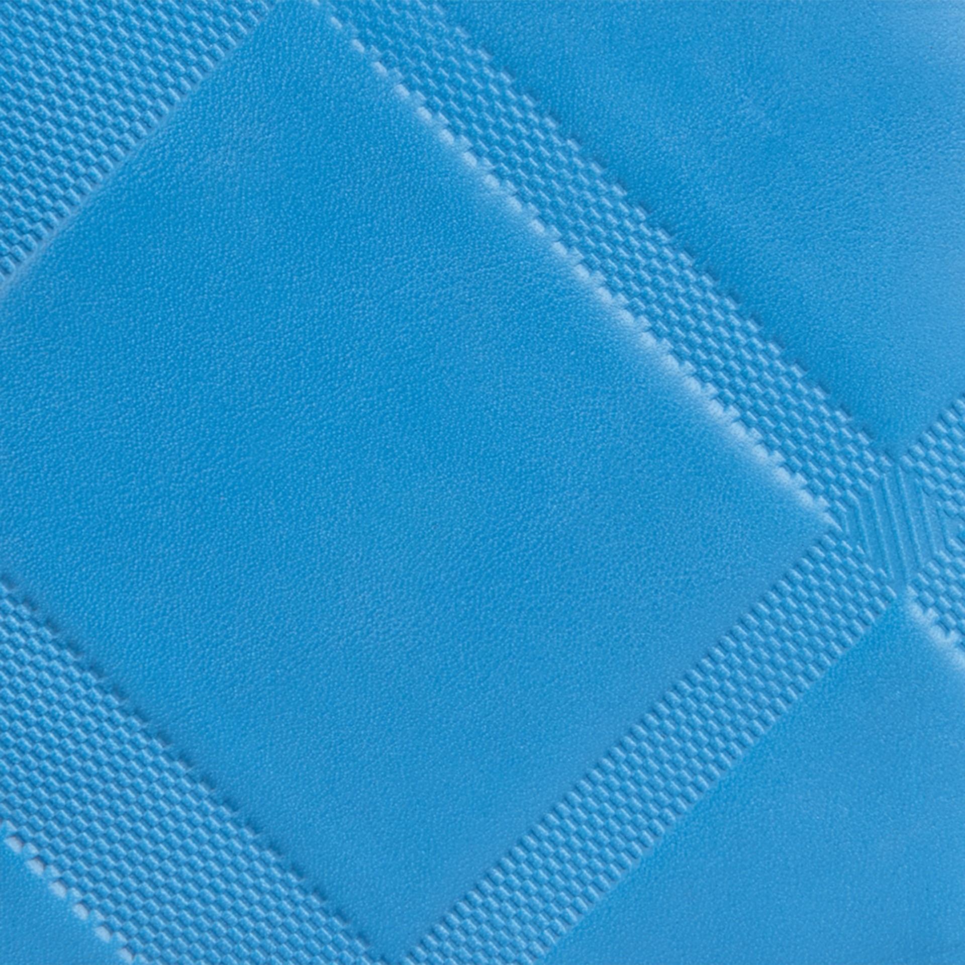 Лазурно-синий Складной бумажник из кожи с тиснением Лазурно-синий - изображение 2