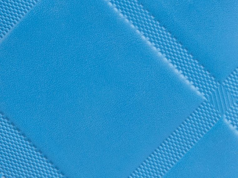 Blue azure Check-embossed Leather Folding Wallet Blue Azure - cell image 1