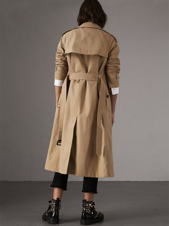 The Westminster – Extra-long Trench Coat in Honey - Women | Burberry - cell image 2