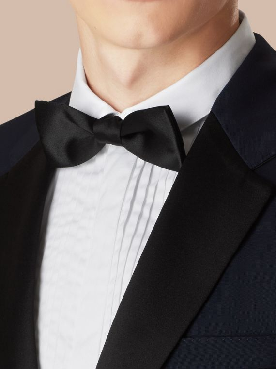 Classic Silk Bow Tie in Black - Men | Burberry - cell image 2