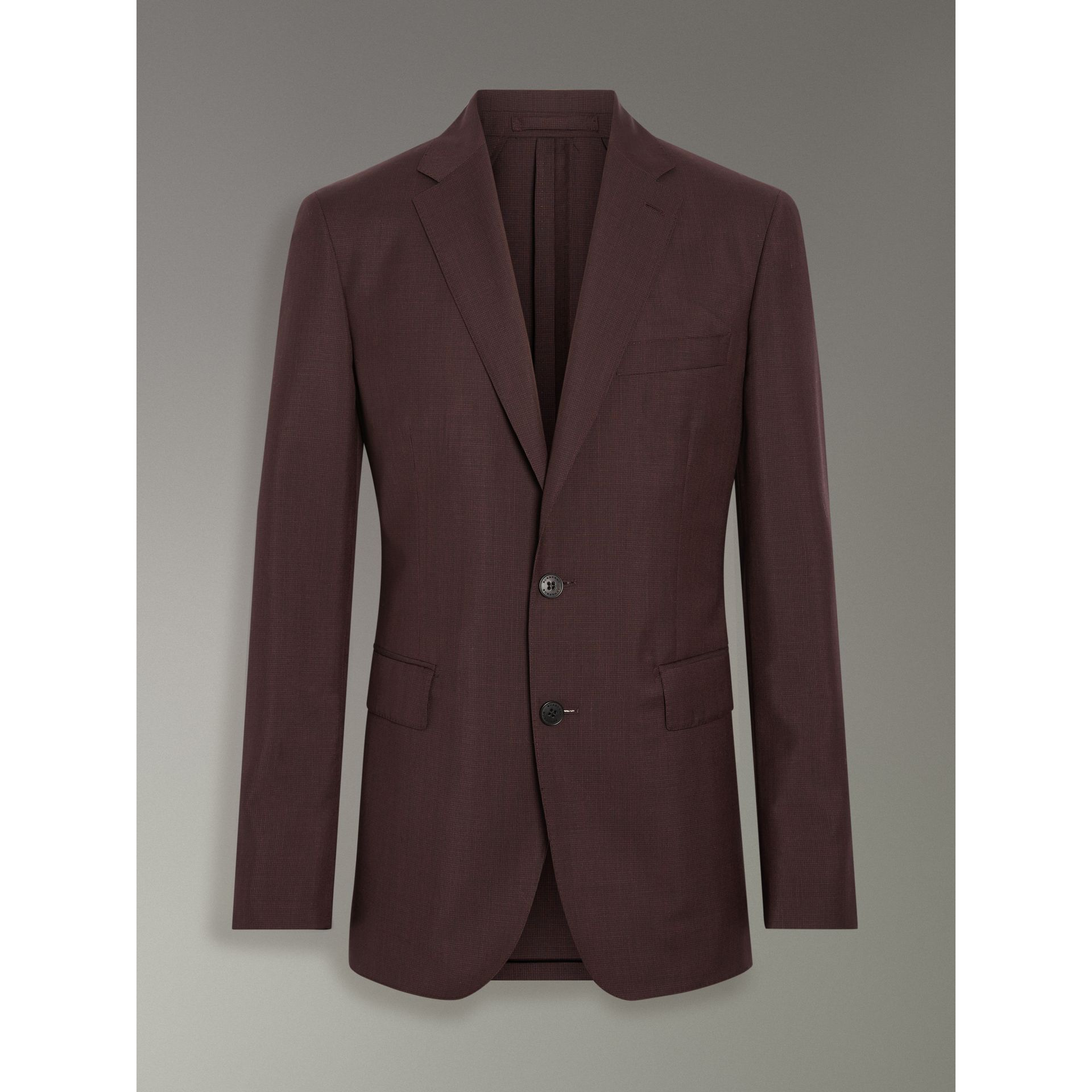 Soho Fit Puppytooth Wool Mohair Suit in Burgundy - Men | Burberry - gallery image 3