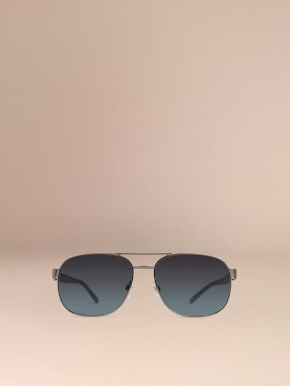 Blue Square Frame Aviator Polarised Sunglasses Blue - cell image 2