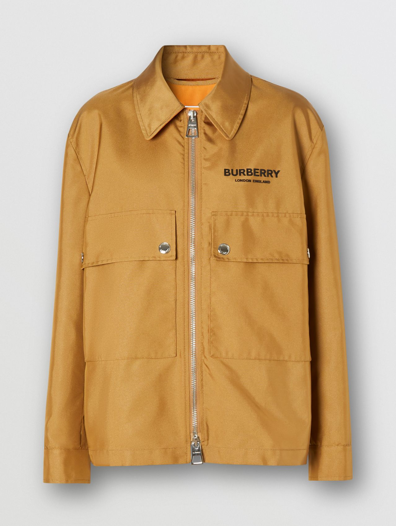 Logo Print Technical Canvas Field Jacket