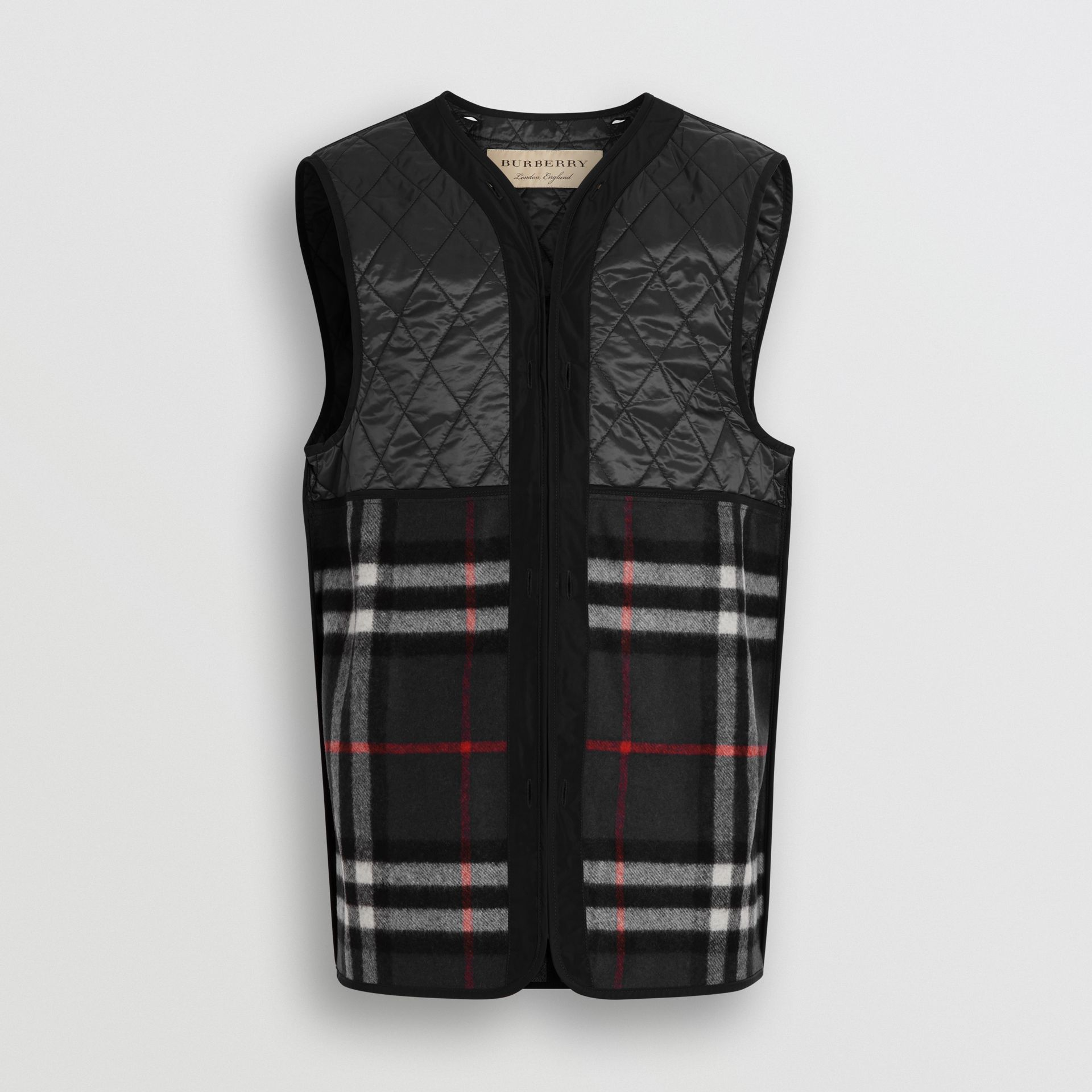 Shape-memory Taffeta Car Coat with Warmer in Black - Men | Burberry United Kingdom - gallery image 7