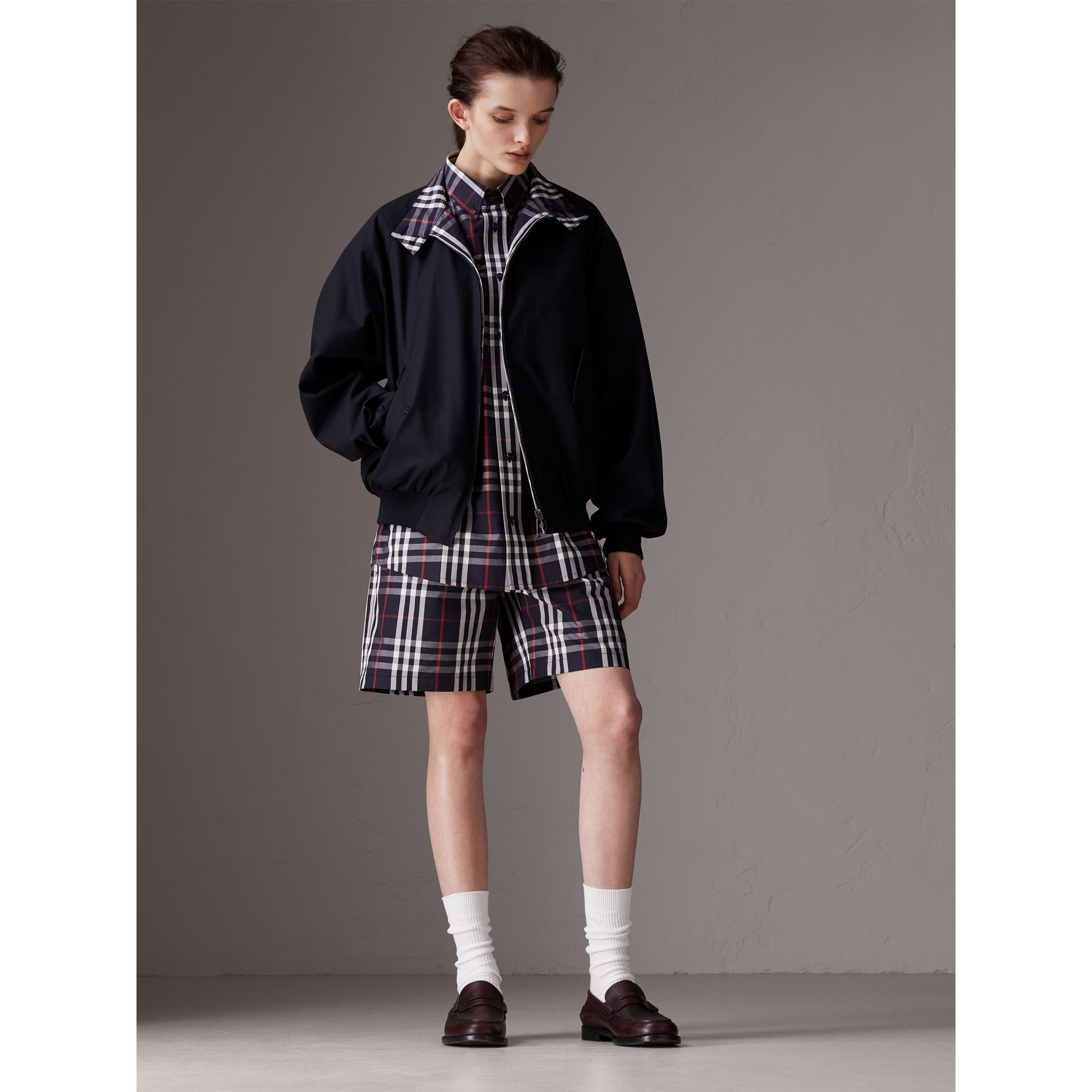 Gosha x Burberry Reversible Harrington Jacket in Navy | Burberry Canada - gallery image 3