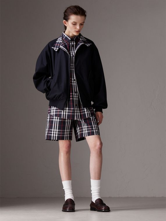 Gosha x Burberry Reversible Harrington Jacket in Navy | Burberry - cell image 3