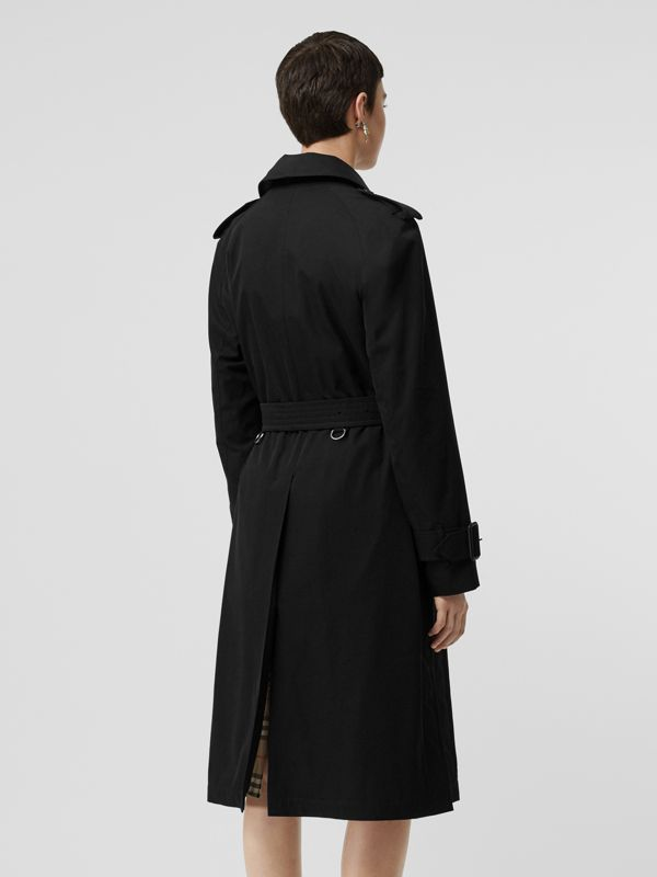 Tropical Gabardine Belted Car Coat in Black - Women | Burberry United States - cell image 2