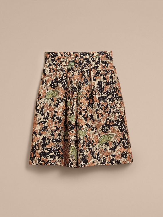 Beasts Print Technical Silk Voluminous Skirt - Women | Burberry - cell image 3