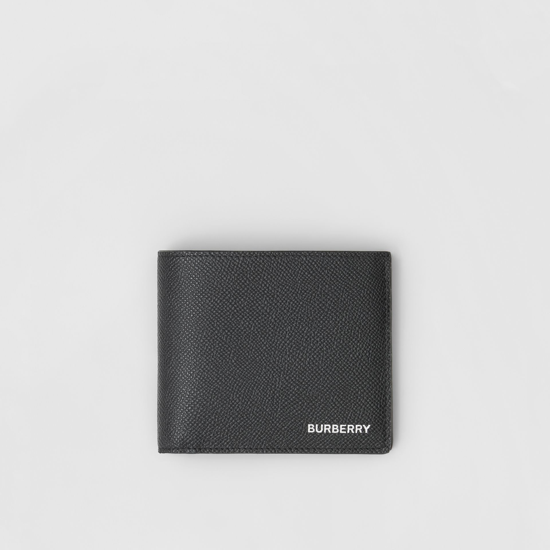 Grainy Leather Bifold Wallet with ID Card Case in Black - Men | Burberry United Kingdom - gallery image 0