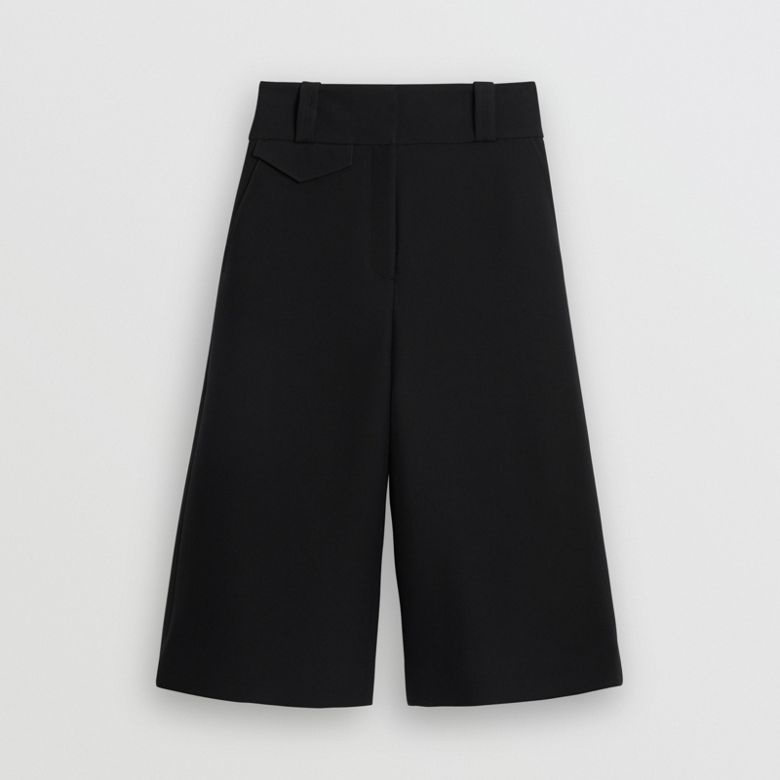 Burberry - Jupe-culotte large en soie et laine - 4