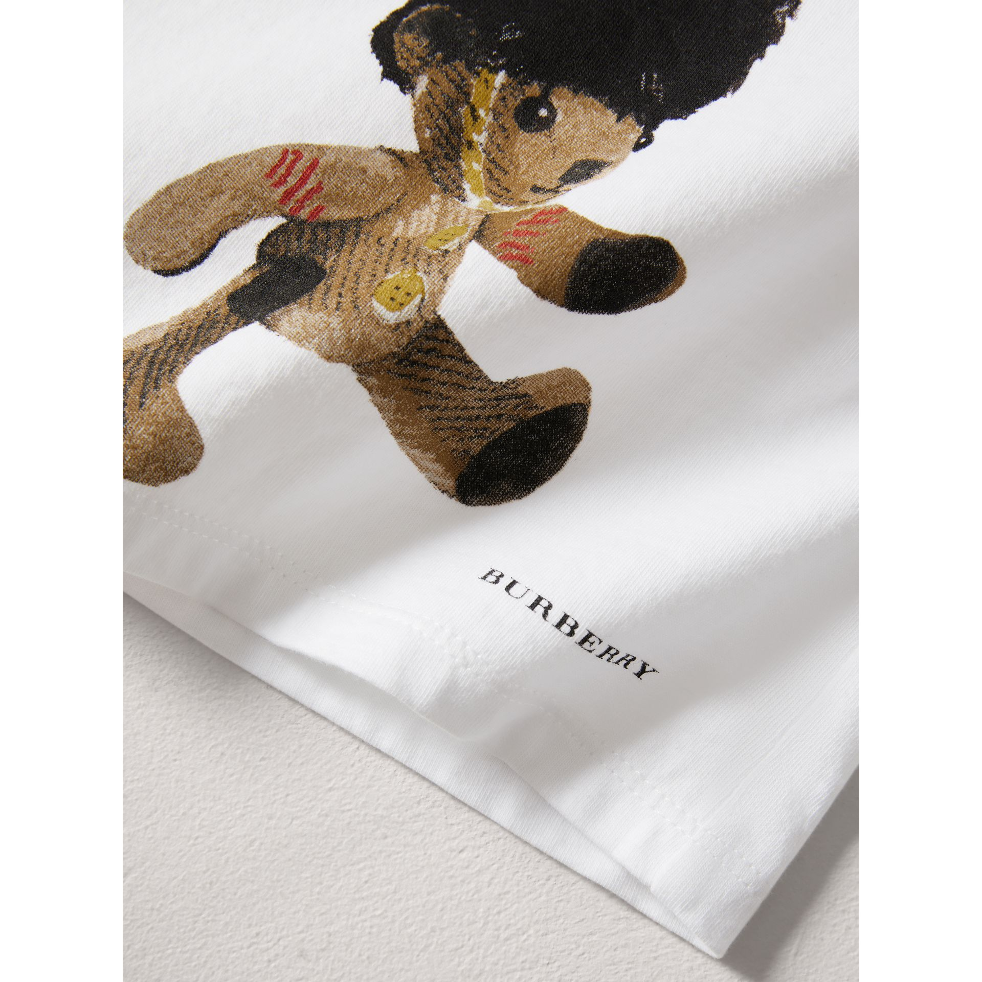 Thomas Bear Guardsman Print Cotton Top in White - Children | Burberry United Kingdom - gallery image 1