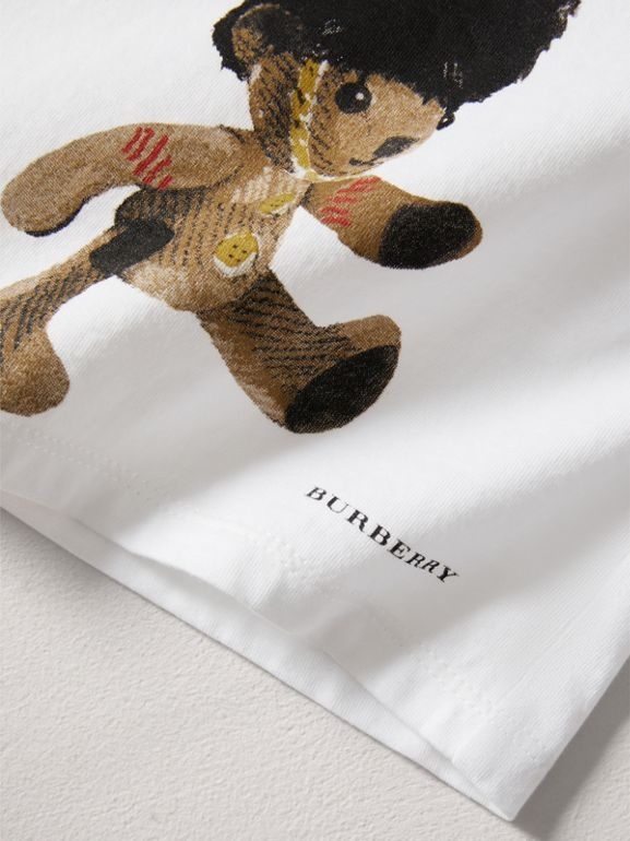 Thomas Bear Guardsman Print Cotton Top in White - Children | Burberry - cell image 1