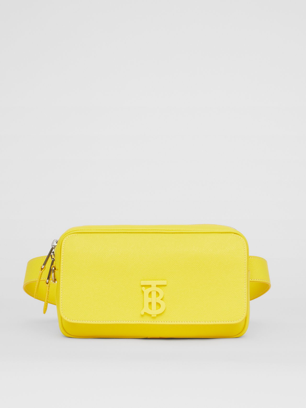 Monogram Motif Grainy Leather Bum Bag in Marigold Yellow