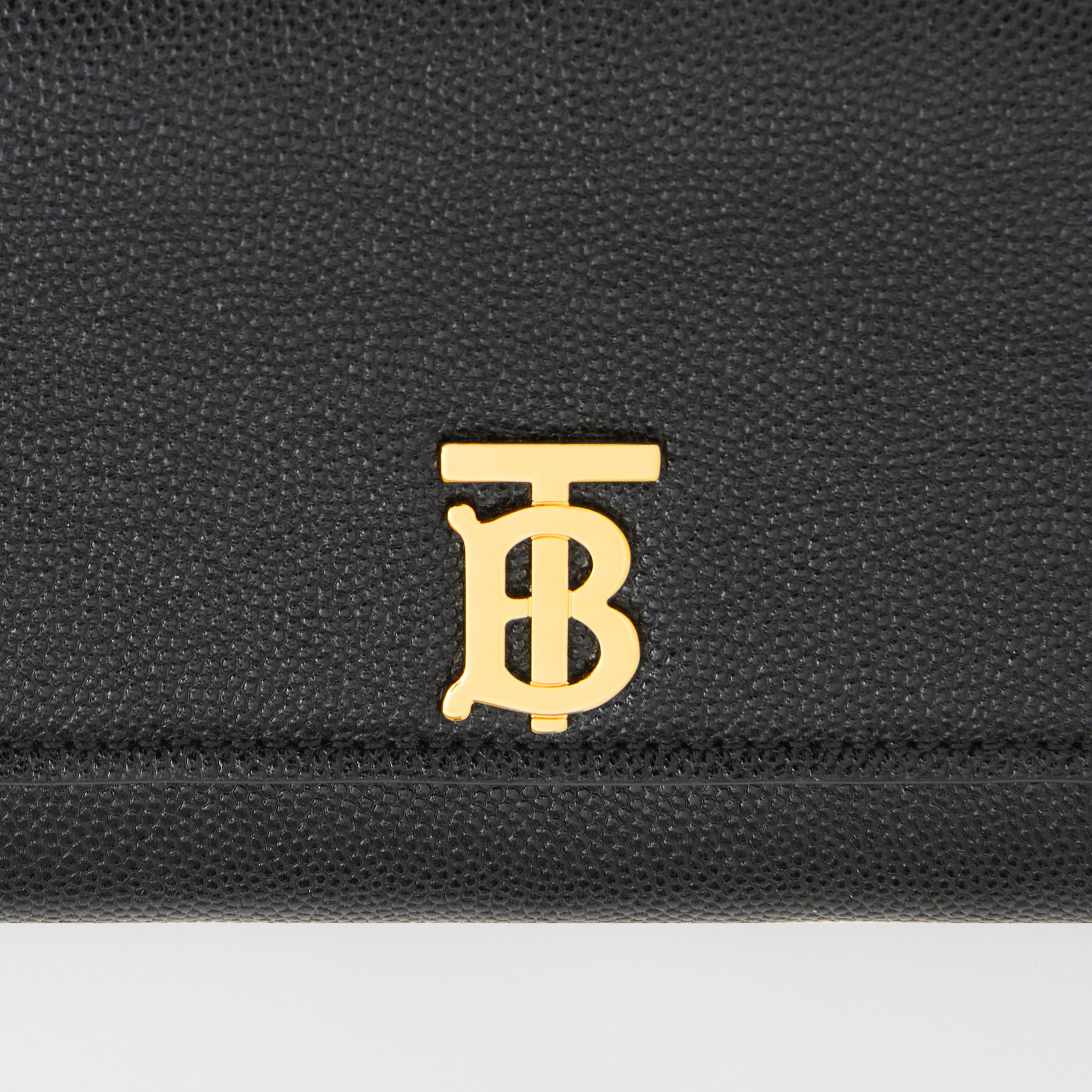 Monogram Motif Grainy Leather Continental Wallet in Black - Women | Burberry - 2