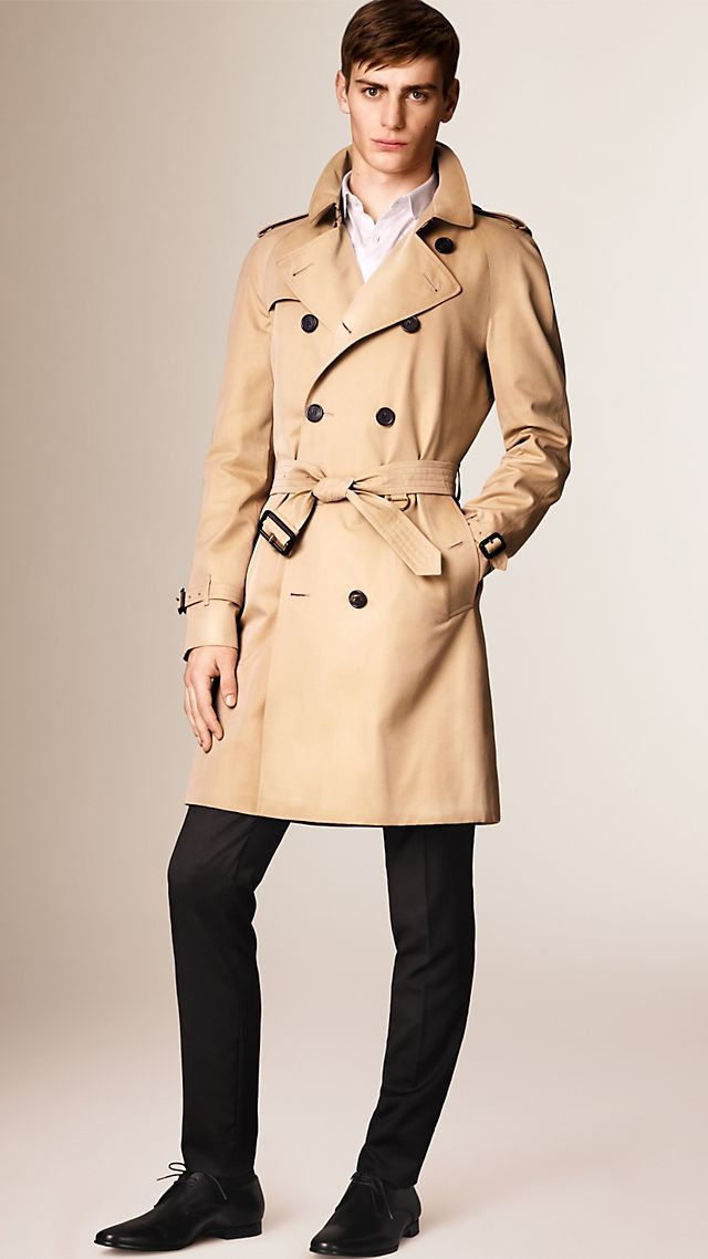 The Wiltshire – Long Heritage Trench Coat Honey