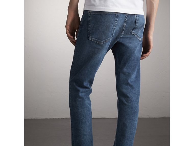 Straight Fit Stretch Japanese Denim Jeans - cell image 1