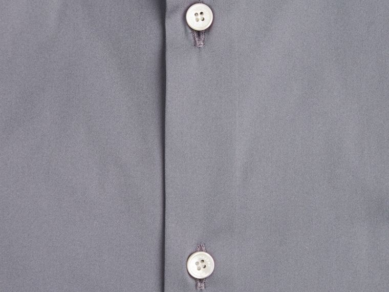 Modern Fit Stretch Cotton Shirt in City Grey - cell image 1