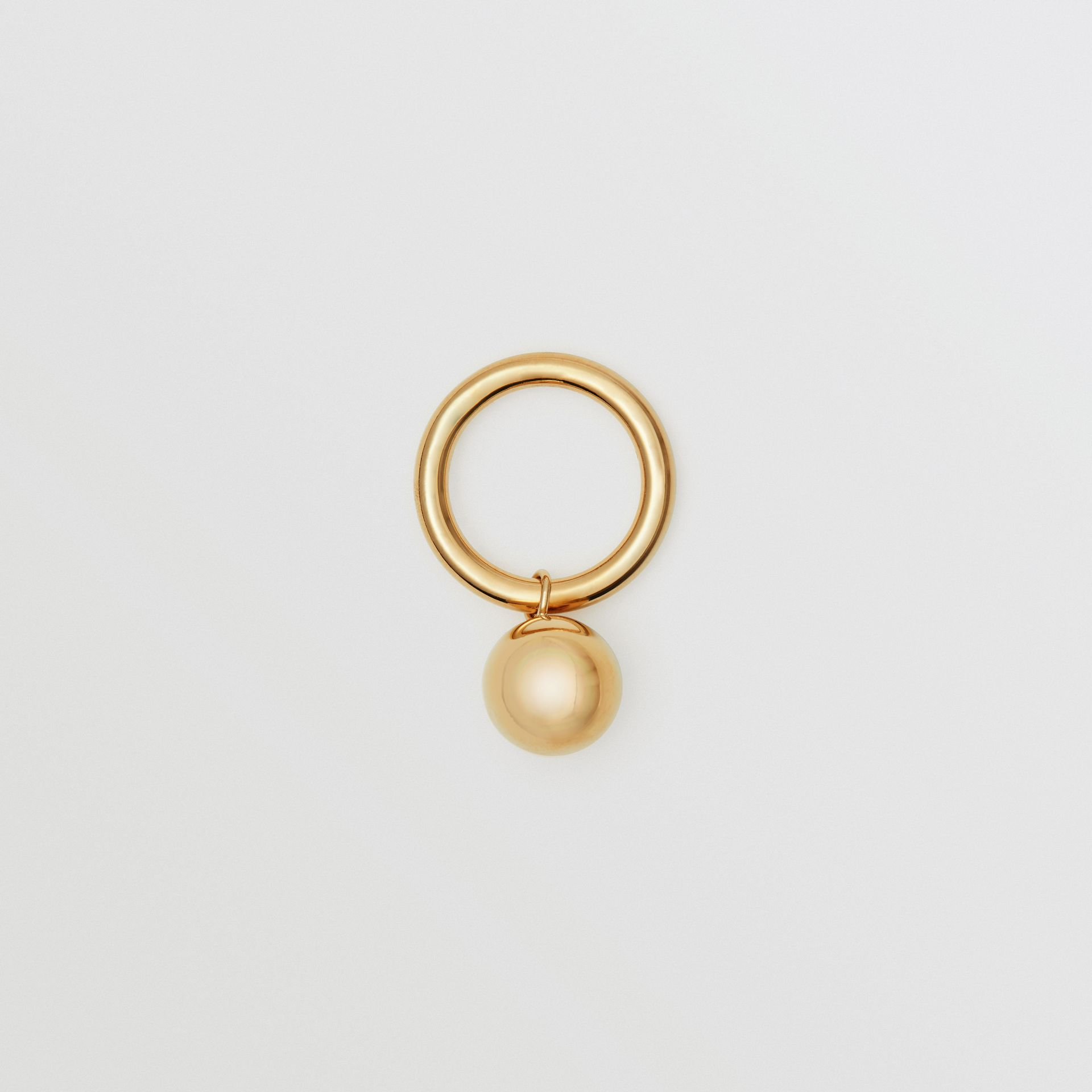 Charm Gold-plated Ring in Light - Women | Burberry - gallery image 0