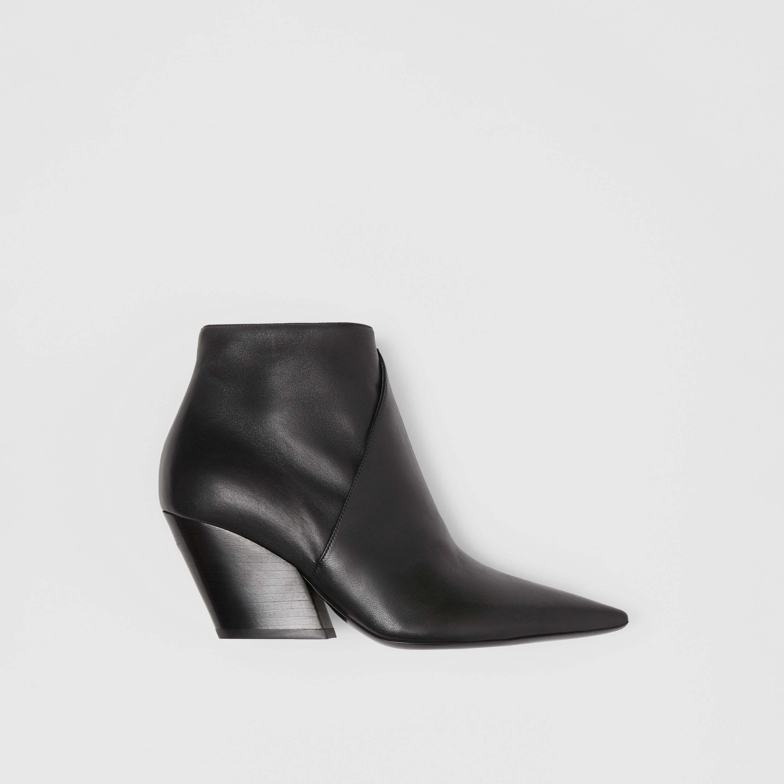 Leather Ankle Boots in Black - Women | Burberry - 1
