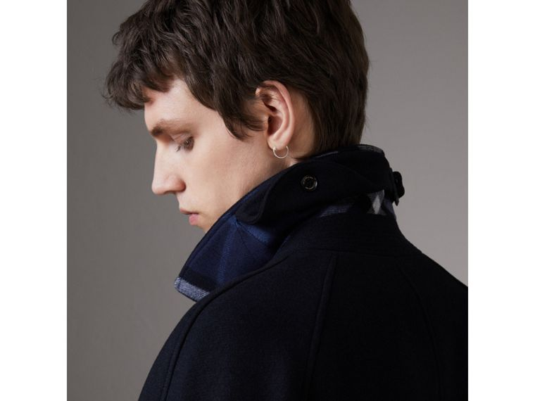 Cappotto car coat in cashmere (Navy) - Uomo | Burberry - cell image 4