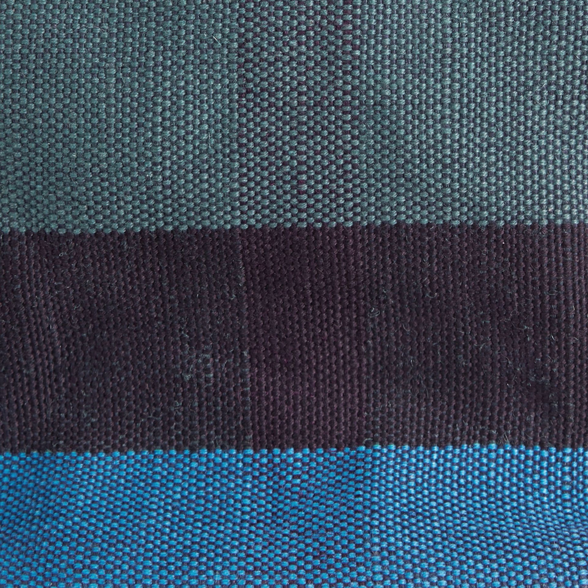 Ultramarine blue The Small Ashby in Overdyed Canvas Check and Leather Ultramarine Blue - gallery image 2