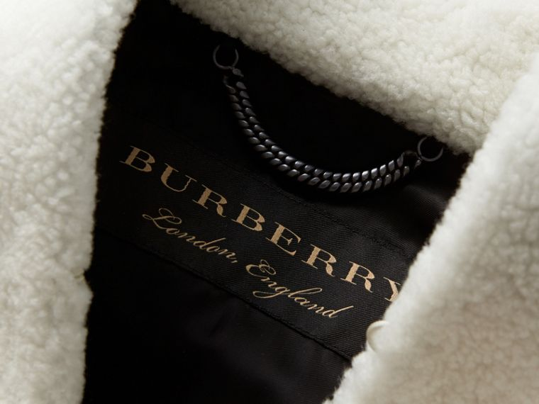 Cape-shoulder Cropped Shearling Jacket - Women | Burberry - cell image 1