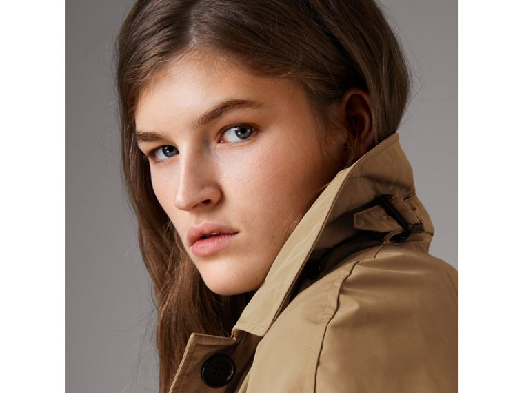 Detachable Hood Showerproof Car Coat in Sisal - Women | Burberry Singapore - cell image 4