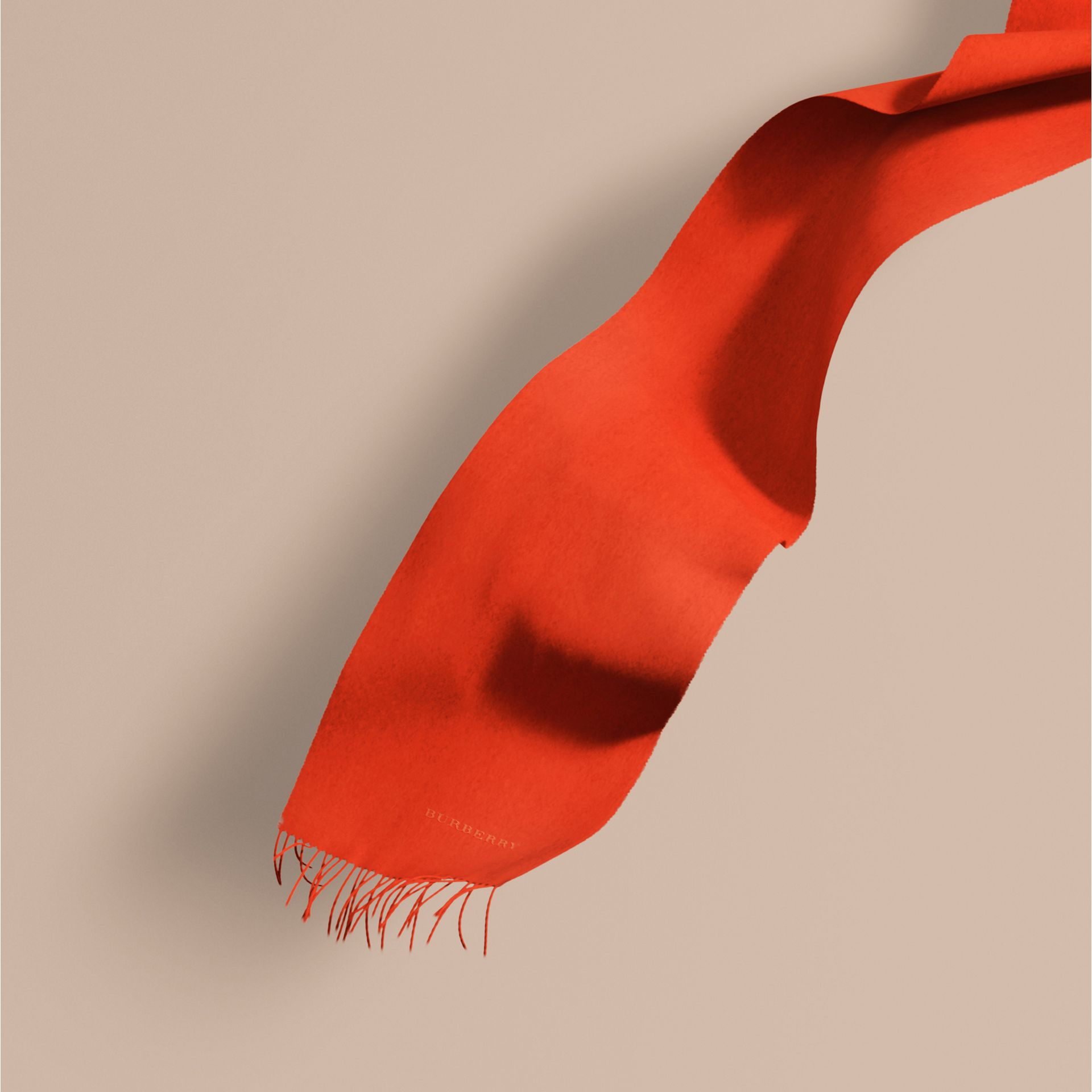 Bright orange red The Classic Cashmere Scarf Bright Orange Red - gallery image 1