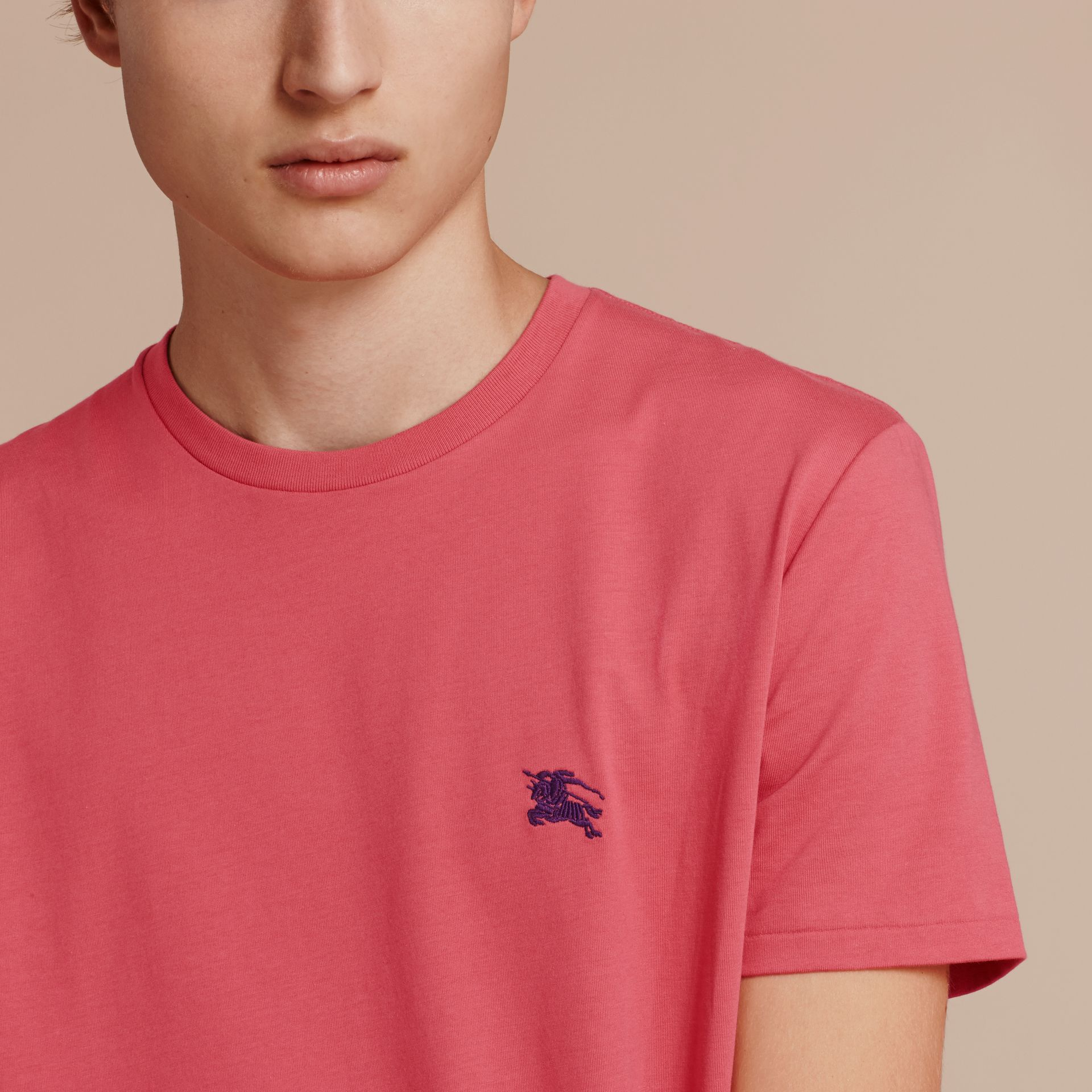 Cotton Jersey T-shirt Dusky Pink - gallery image 5