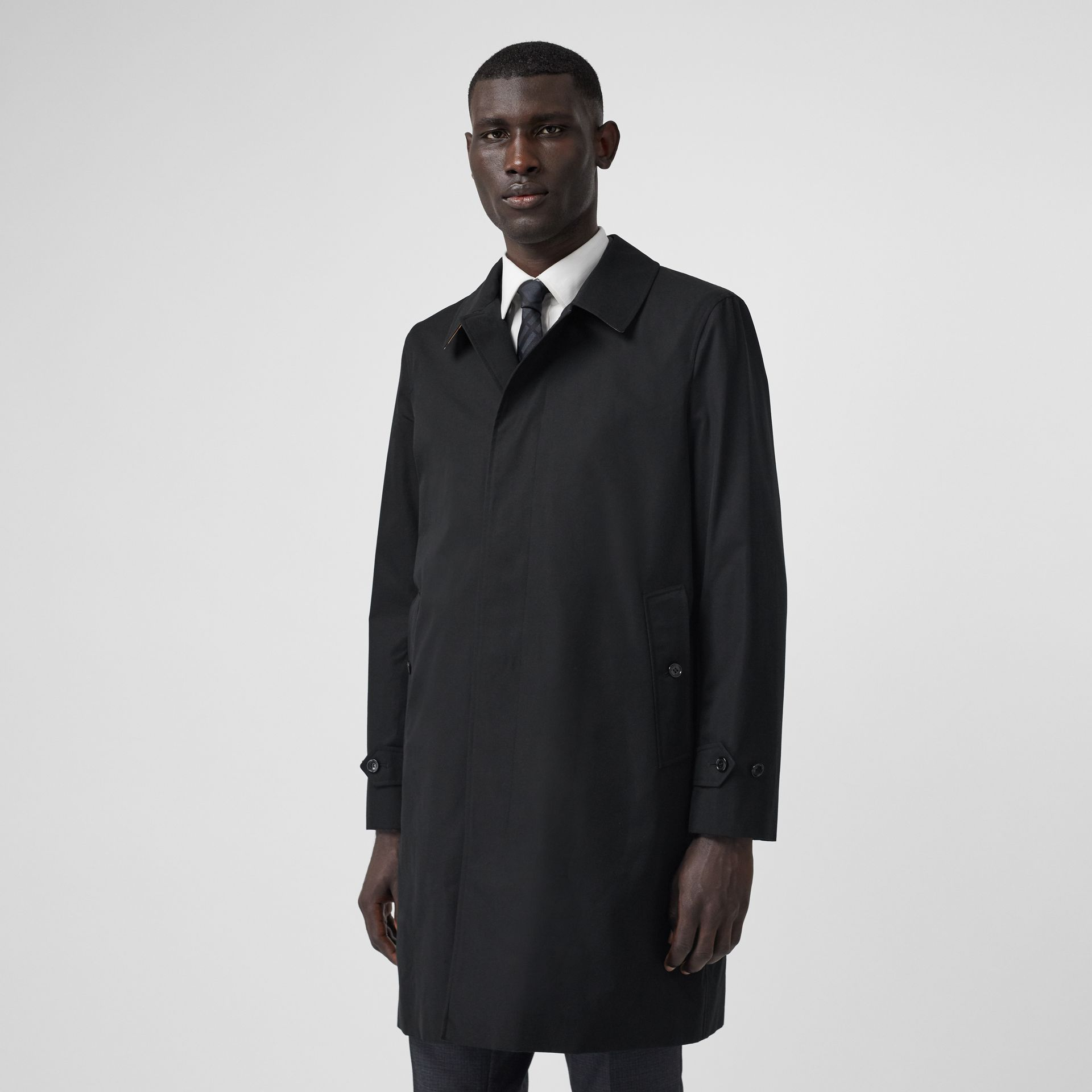 The Pimlico Car Coat in Black - Men | Burberry - gallery image 7