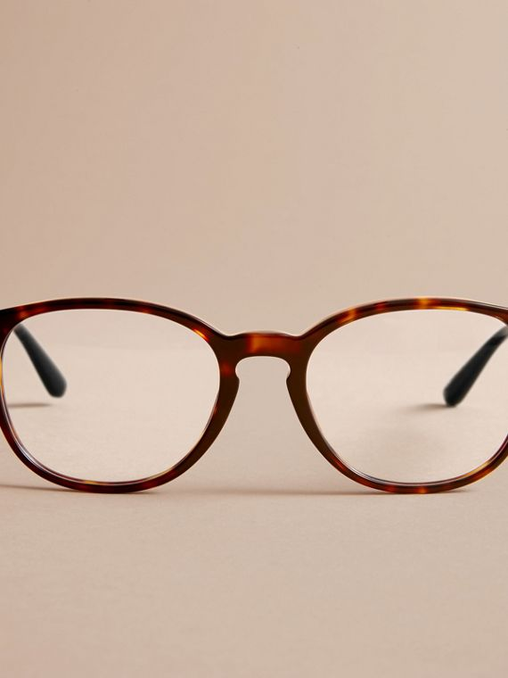 Check Detail Round Optical Frames in Tortoiseshell - cell image 2