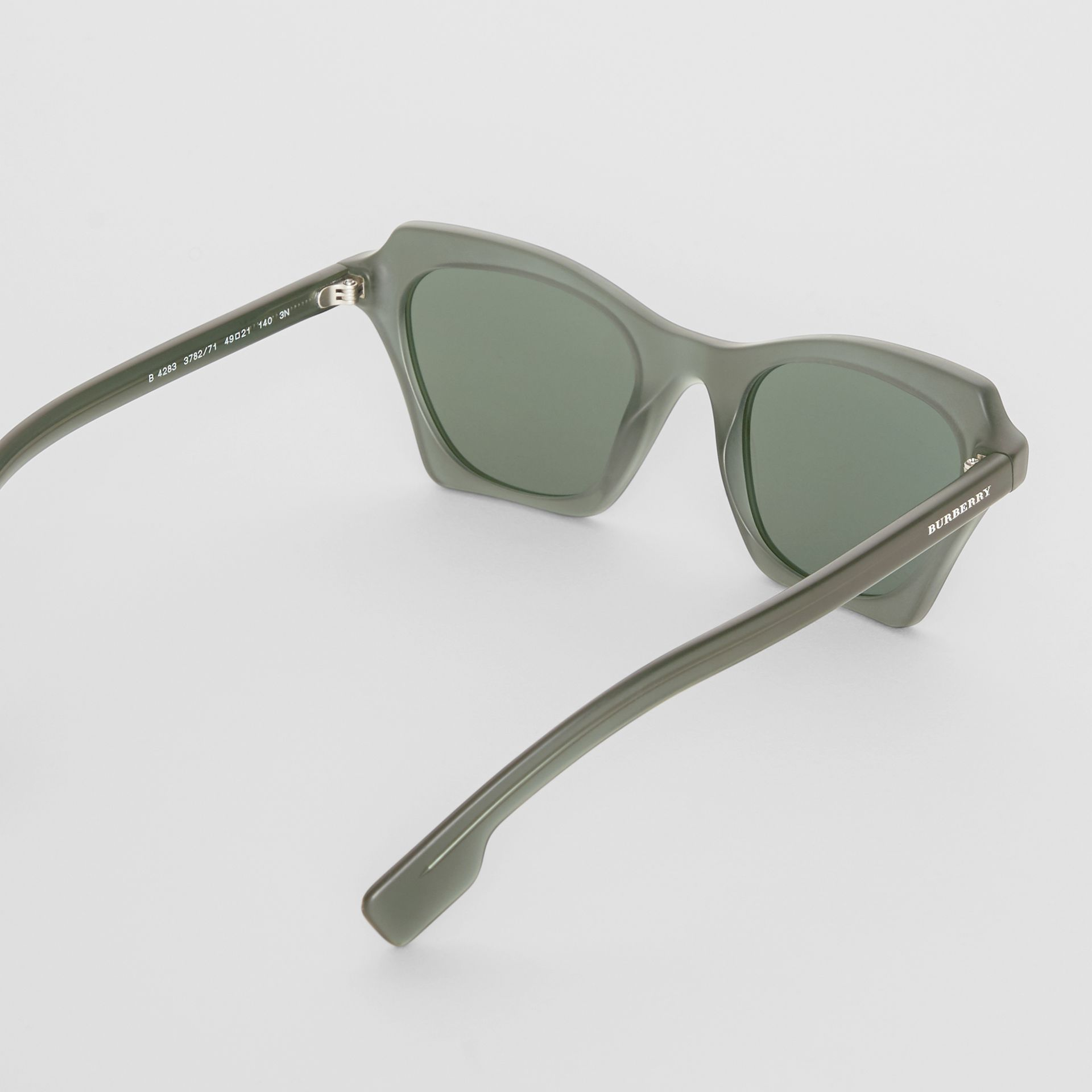 Butterfly Frame Sunglasses in Green - Women | Burberry Australia - gallery image 4