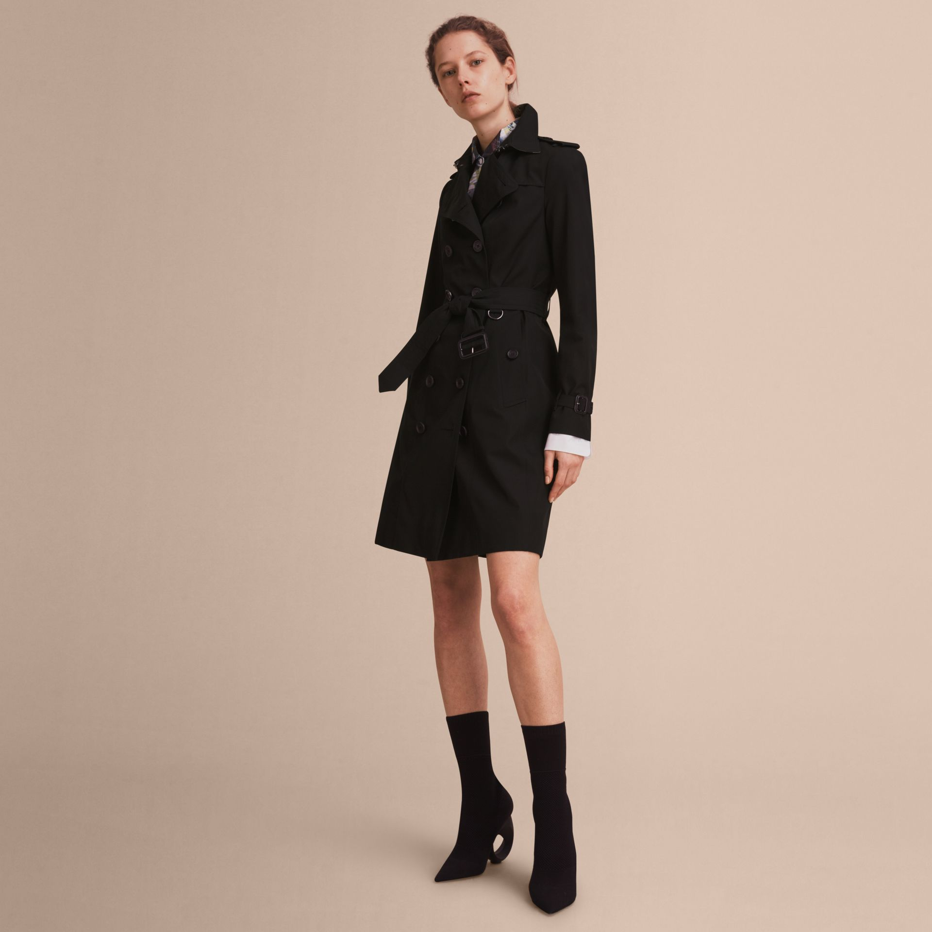 The Sandringham – Long Heritage Trench Coat Black - gallery image 1