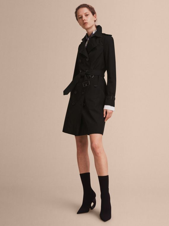 The Sandringham - Trench coat Heritage longo Preto