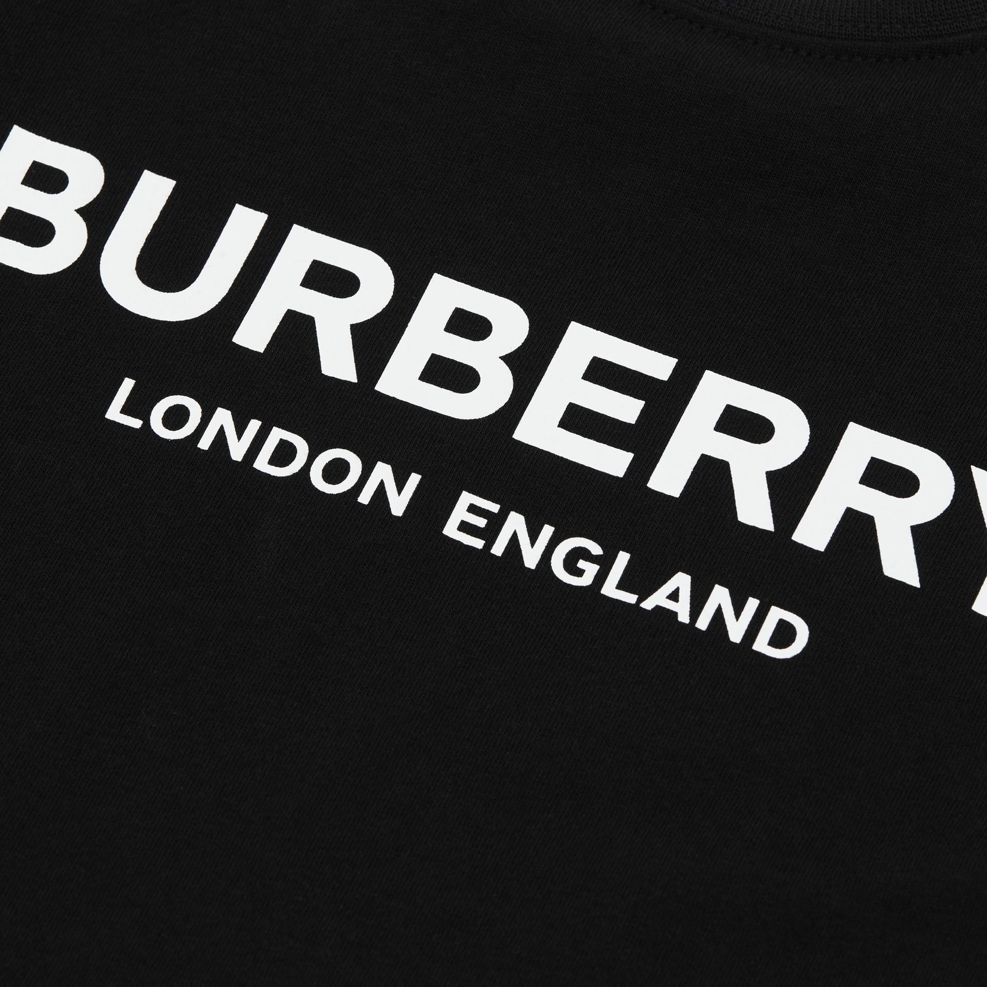 Baumwoll-T-Shirt mit Burberry-Logo (Schwarz) - Kinder | Burberry - Galerie-Bild 1