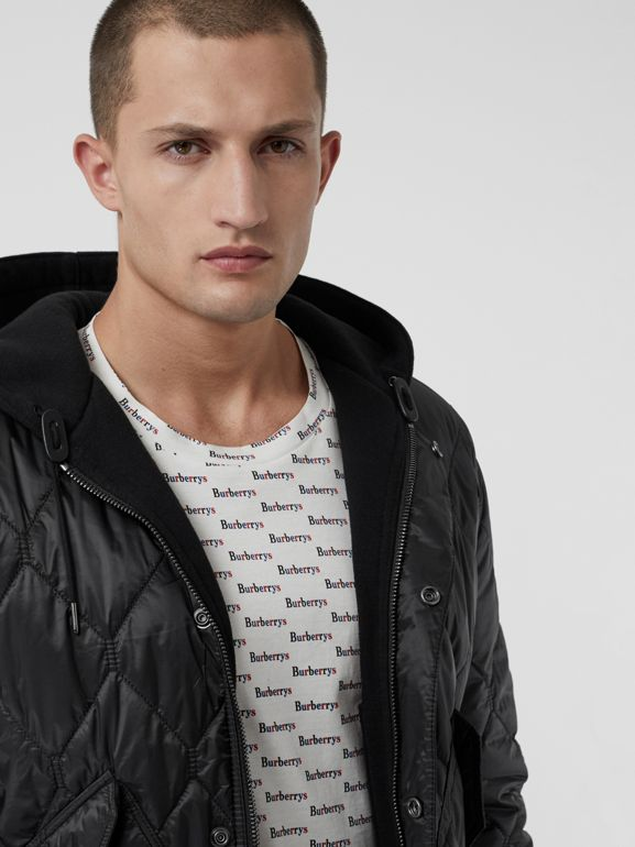 Reversible Diamond Quilted Hooded Jacket in Black - Men | Burberry - cell image 1