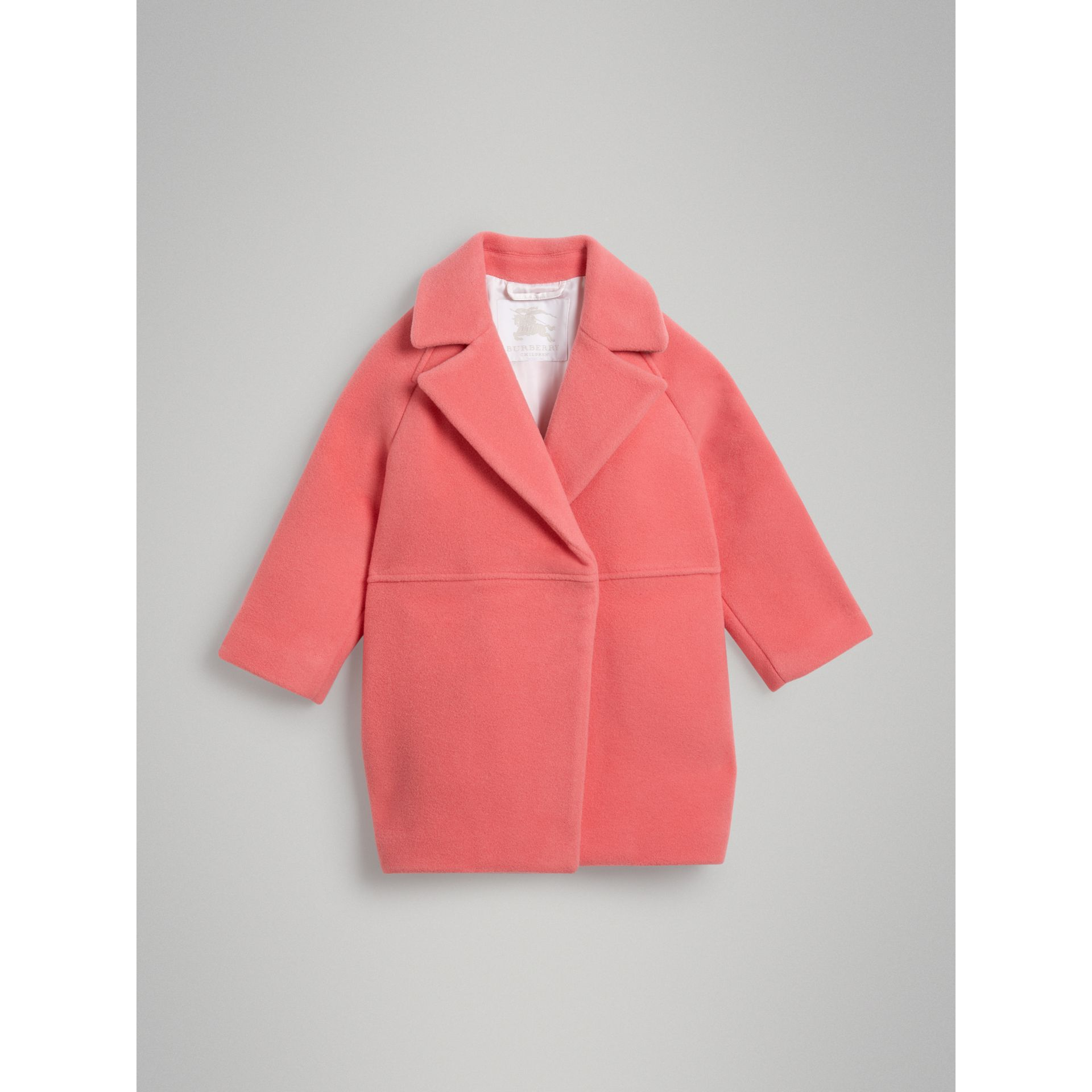 Manteau cocon en laine bouillie (Rose Vif) | Burberry Canada - photo de la galerie 0