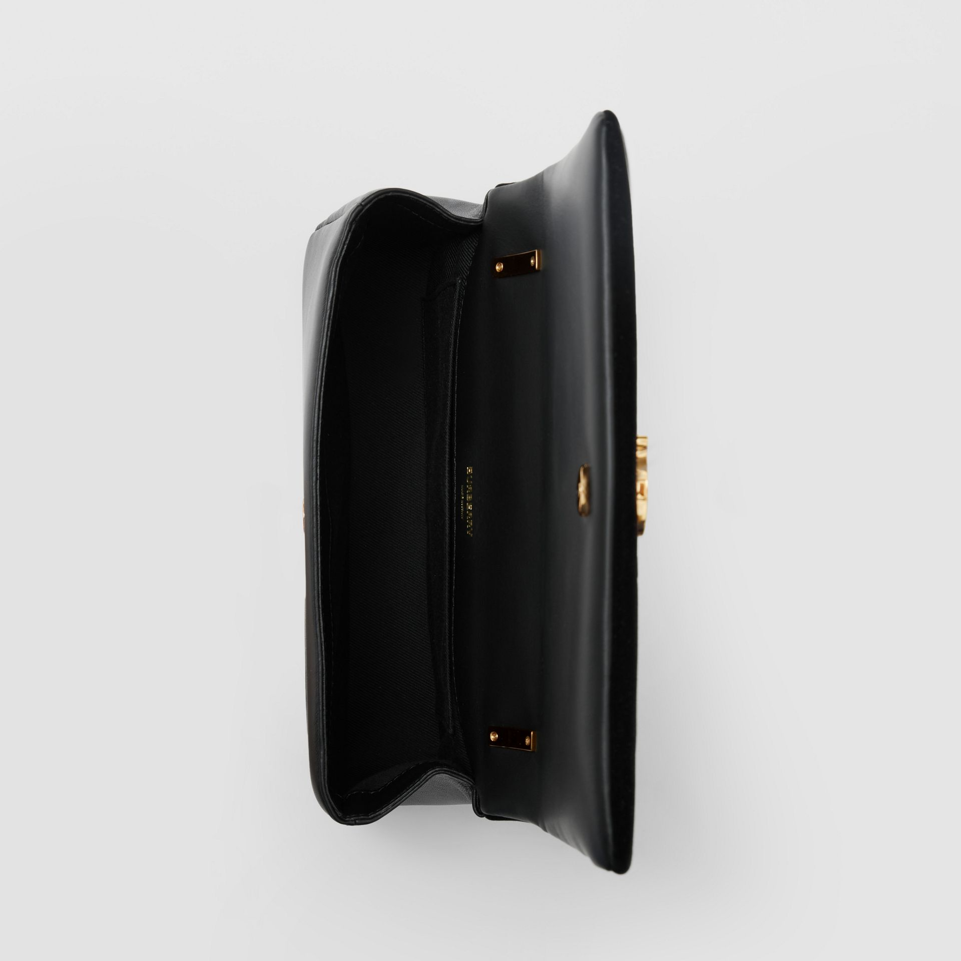 Small Deer Flock Leather Lola Bag in Black/white - Women | Burberry Hong Kong S.A.R. - gallery image 4