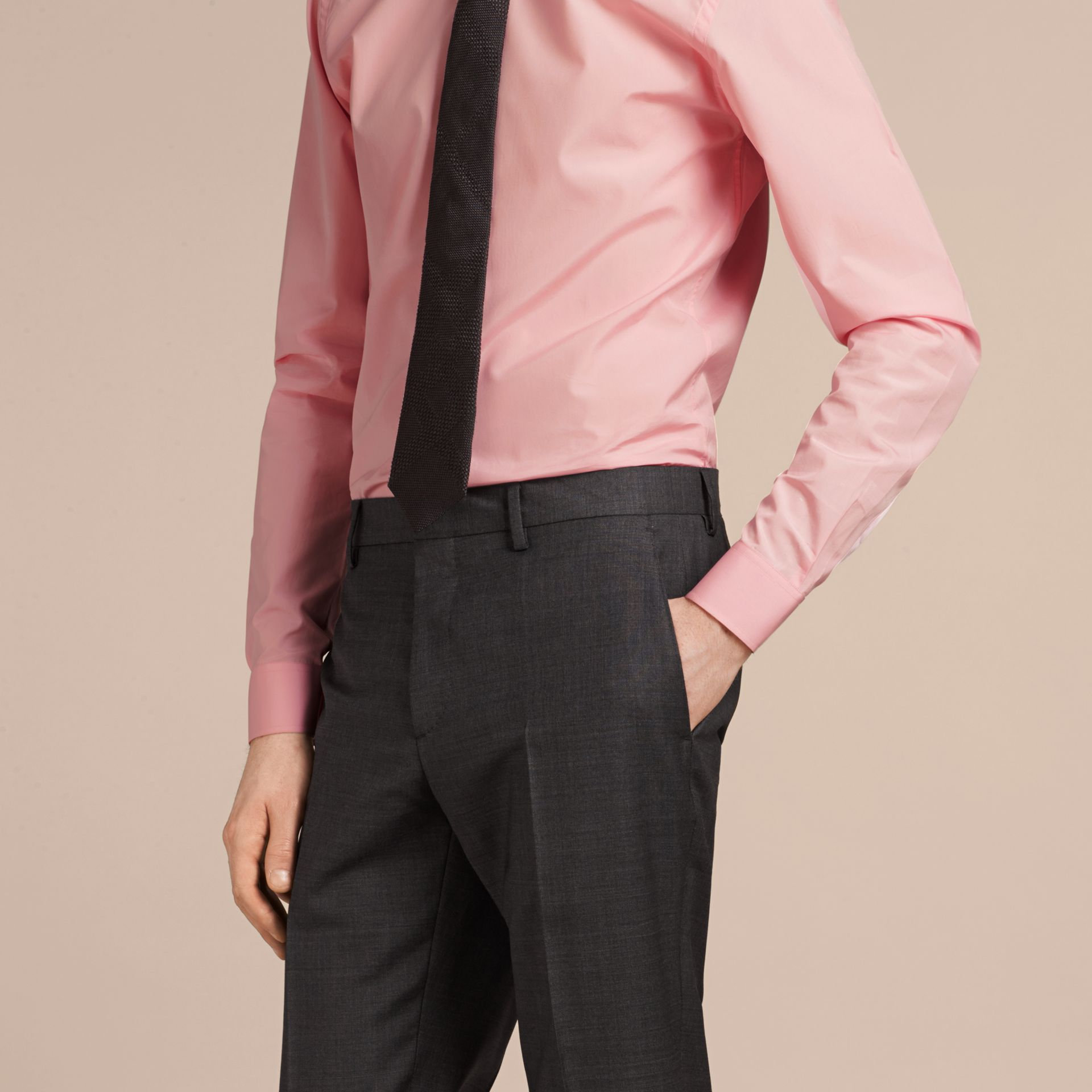Slim Fit Cotton Poplin Shirt City Pink - gallery image 5