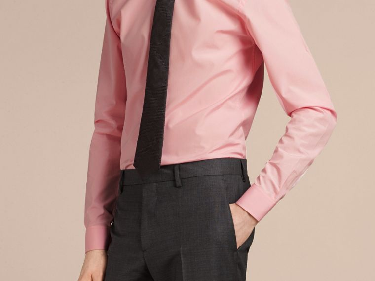 Slim Fit Cotton Poplin Shirt City Pink - cell image 4